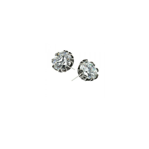 YVONE CHRISTA TULIP EARRINGS LARGE POST, CZ