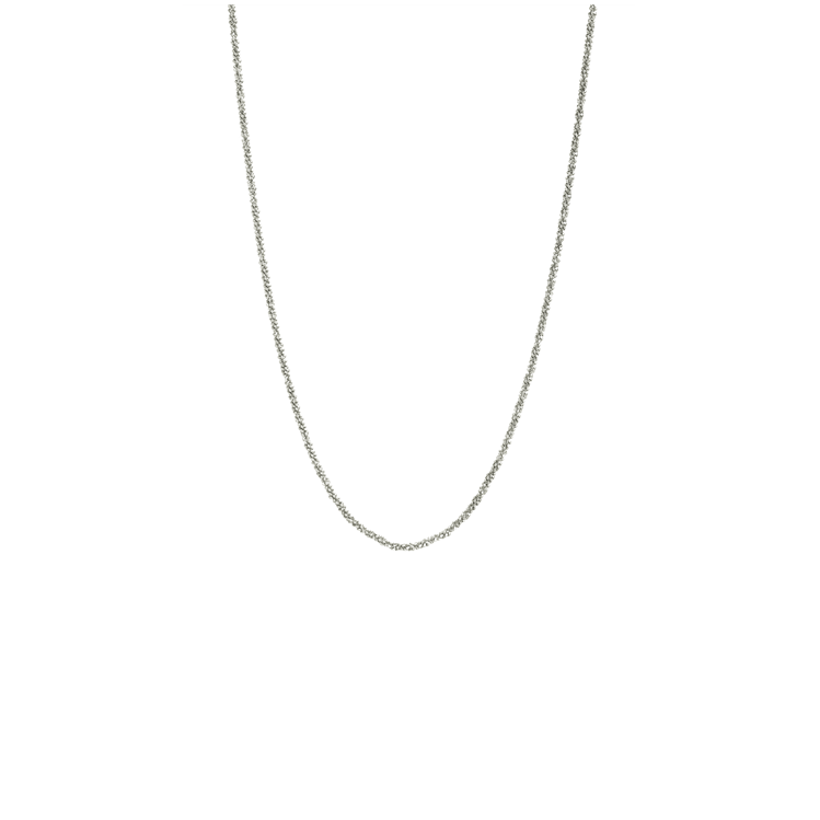 CU JEWELLERY ROOF PLAIN NECKLACE SILVER