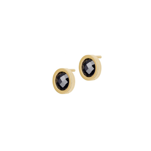 EDBLAD COLOUR EARRINGS BLACK GOLD