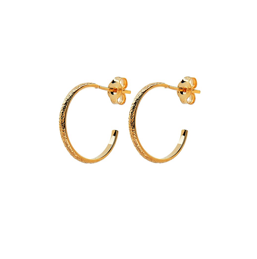 CU JEWELLERY PEARL VINTAGE ROUND EAR GOLD