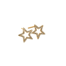Load image into Gallery viewer, EDBLAD NOVA CZ STUD EARRINGS GOLD