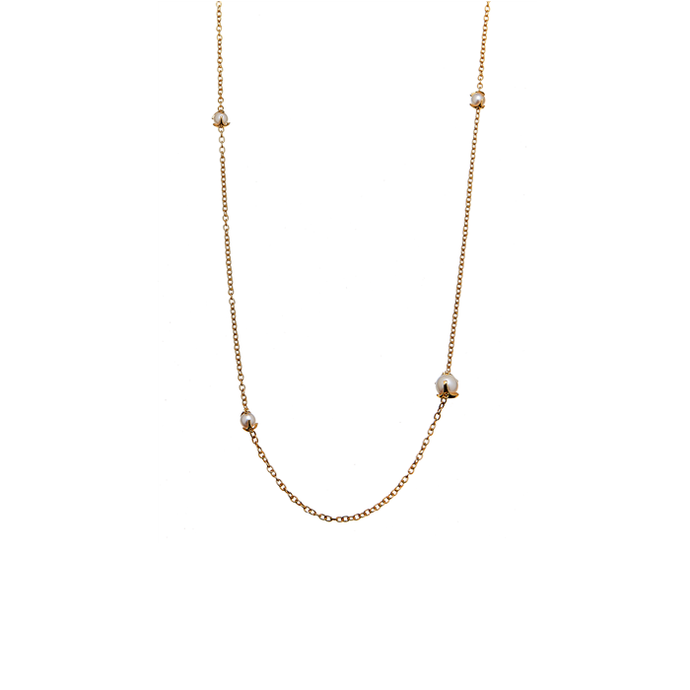 CU JEWELLERY PEARL NECKLACE LONG GOLD