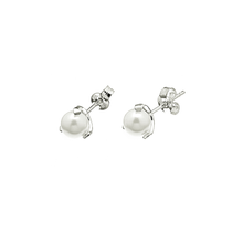 Load image into Gallery viewer, CU JEWELLERY STUD EAR SILVER