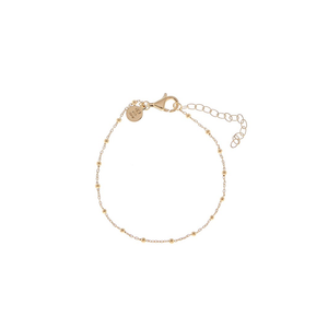 CU JEWELLERY TWO BEADED BRACELET GOLD