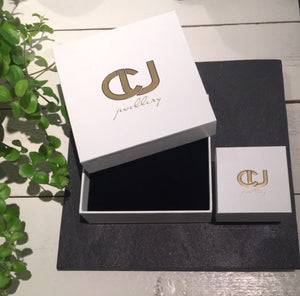 CU JEWELLERY TWO STONE RING SILVER
