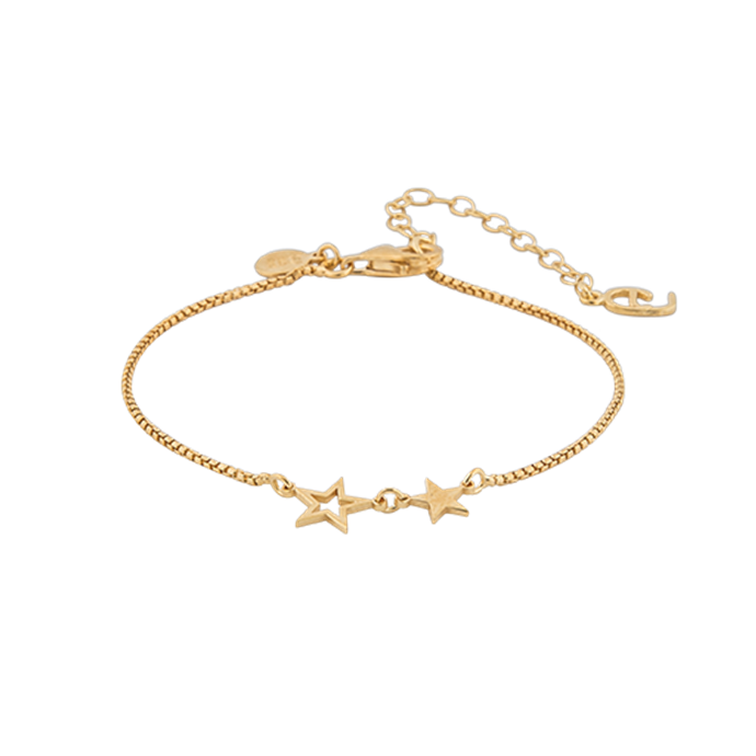 CU JEWELLERY DOUBLE STAR BRACELET GOLD