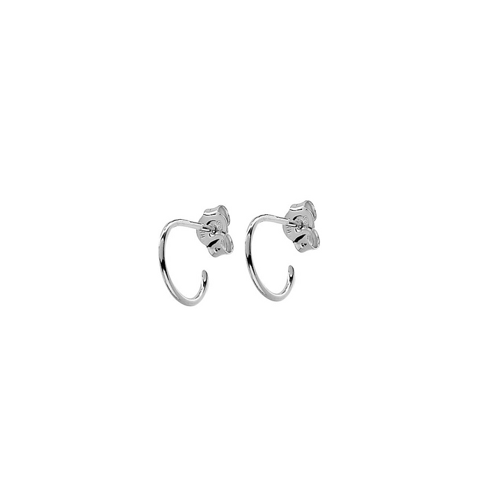 CU JEWELLERY TWO SMALL ROUND EAR SILVER