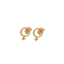 Load image into Gallery viewer, CU JEWELLERY ♀ VENUS EARRINGS SMALL, GOLD
