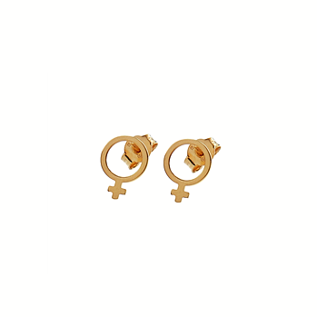 CU JEWELLERY ♀ VENUS EARRINGS SMALL, GOLD