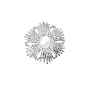CU JEWELLERY GATSBY BIG PEARL RING SILVER