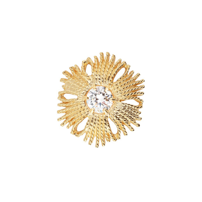 CU JEWELLERY GATSBY BIG STONE RING GOLD