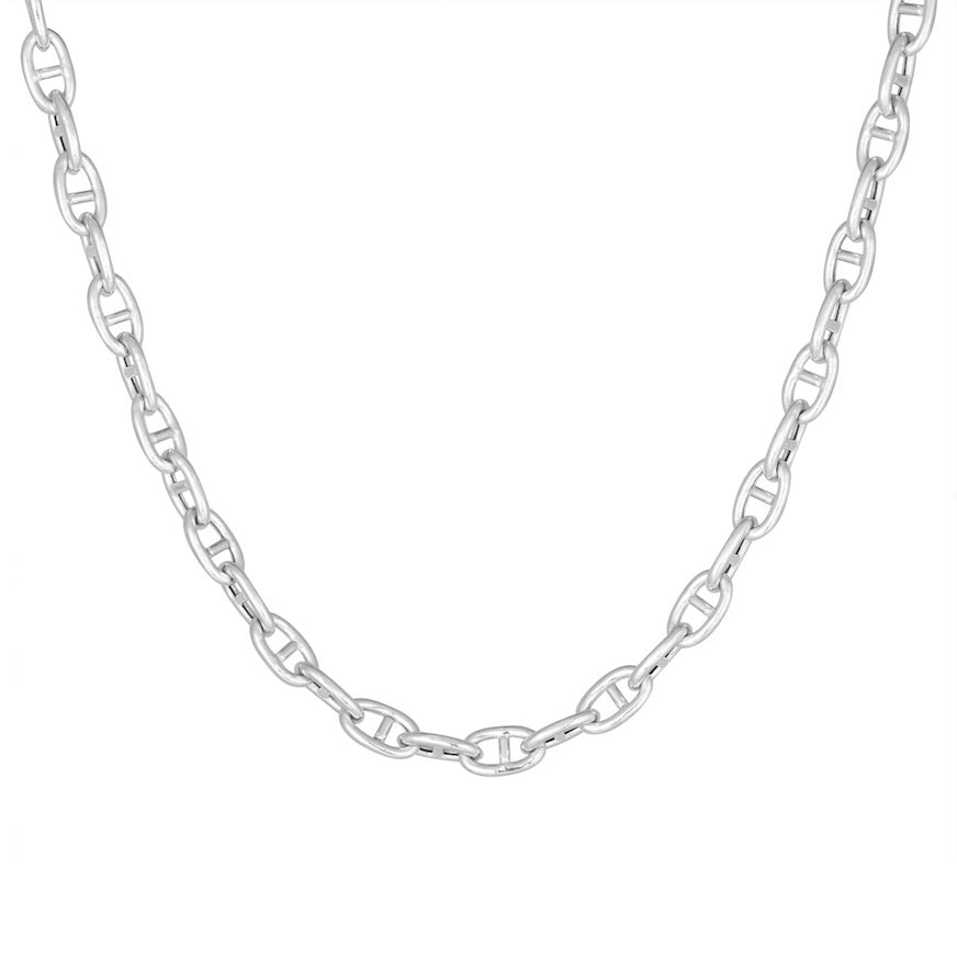 CU JEWELLERY VICTORY CHAIN NECKLACE SILVER SHORT