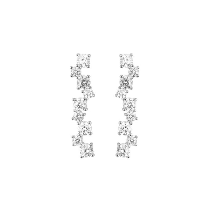 CU JEWELLERY GATSBY LONG EARRINGS SILVER