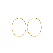 Load image into Gallery viewer, CU JEWELLERY LETTERS BIG HOOP EAR GOLD