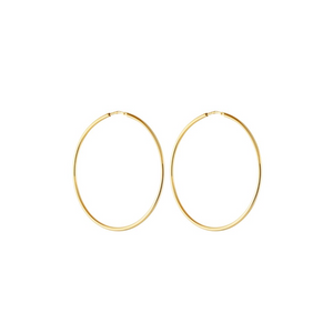 CU JEWELLERY LETTERS BIG HOOP EAR GOLD