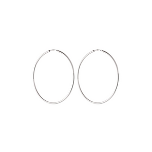 CU JEWELLERY LETTERS BIG HOOP EAR SILVER