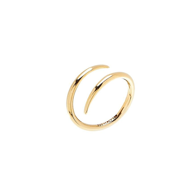 CU JEWELLERY LOOP RING GOLD