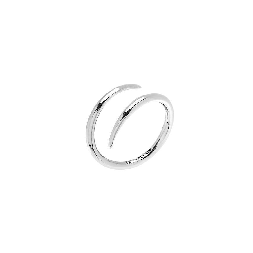 CU JEWELLERY LOOP RING SILVER