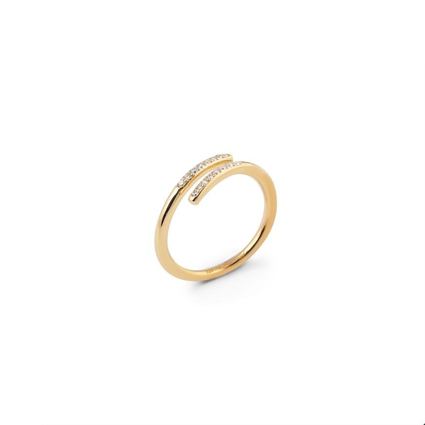 CU JEWELLERY LOOP STONE RING GOLD