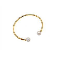 Load image into Gallery viewer, CU JEWELLERY PEARL BANGLE FLEX GOLD
