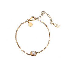 Load image into Gallery viewer, CU JEWELLERY PEARL CHAIN BRACELET GOLD
