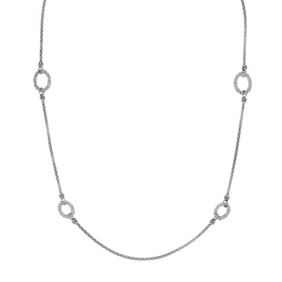 CU JEWELLERY ROOF BUBBLE NECKLACE-SILVER