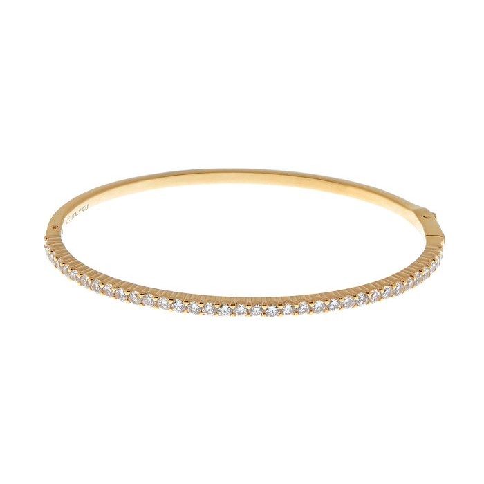 CU JEWELLERY TWO BANGLE BRACELET ARMBAND GOLD