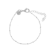 Load image into Gallery viewer, CU JEWELLERY TWO BEADED BRACELET SILVER