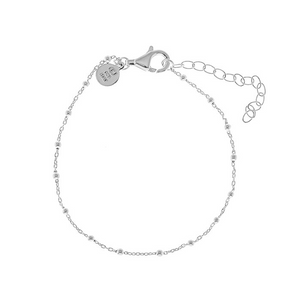 CU JEWELLERY TWO BEADED BRACELET SILVER