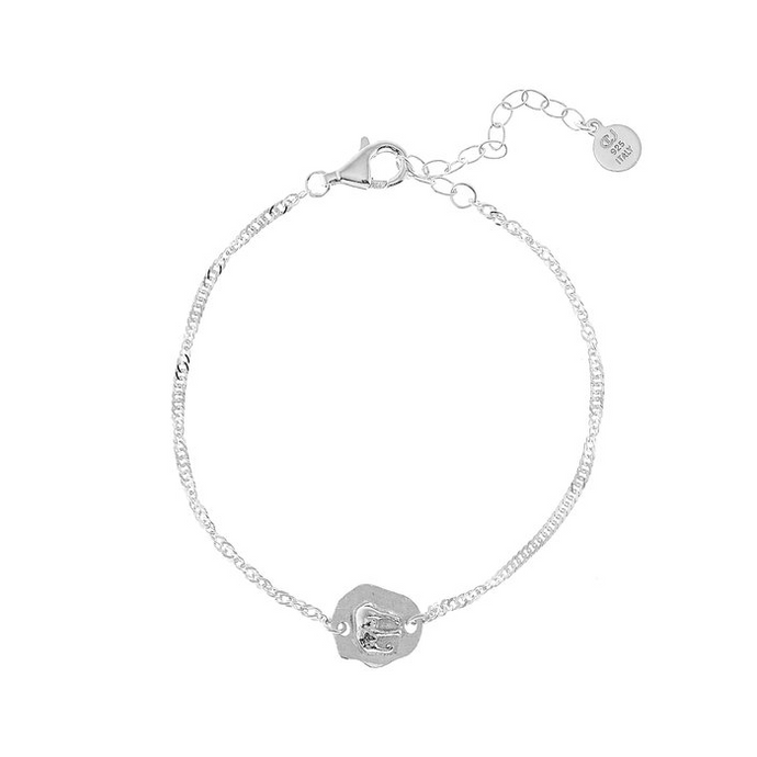 CU JEWELLERY TWO ELEPHANT BRACELET SILVER