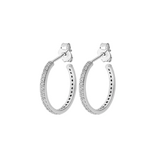 Load image into Gallery viewer, CU JEWELLERY TWO ROUND STONE EAR SILVER