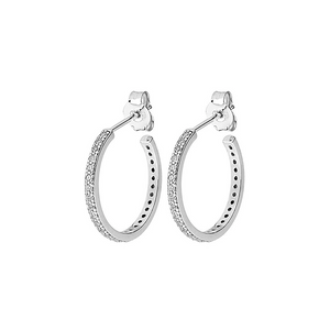 CU JEWELLERY TWO ROUND STONE EAR SILVER