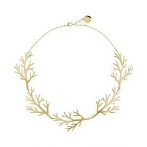 EDBLAD BRANCH NECKLACE MATT GOLD