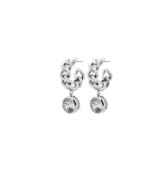 EDBLAD LOURDES CZ CREOLE EARRINGS STEEL