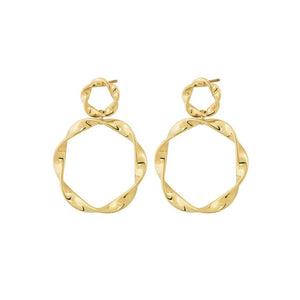 EDBLAD SWIRL EARRINGS GOLD