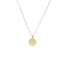 Load image into Gallery viewer, SYSTER P KRISTINE ROUND PENDANT GOLD NECKLACE