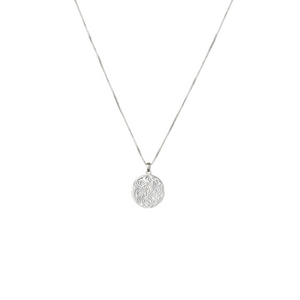 SYSTER P KRISTINE ROUND PENDANT SILVER NECKLACE