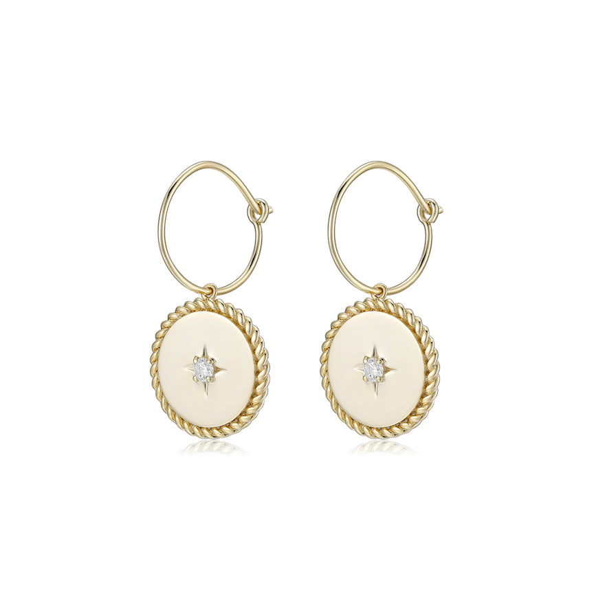 LA MAISON BAGATELLE NOVA EARRINGS GOLD