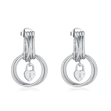Load image into Gallery viewer, LA MAISON BAGATELLE PADLOCK EARRINGS SILVER