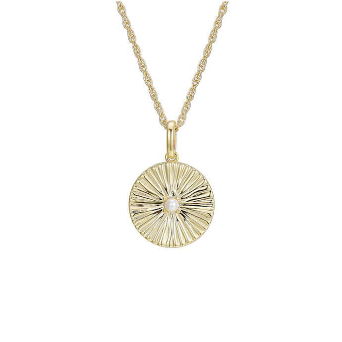 LA MAISON BAGATELLE PLEATED NECKLACE GOLD