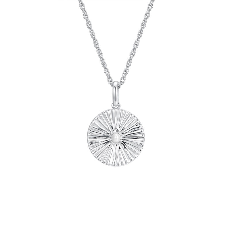LA MAISON BAGATELLE PLEATED NECKLACE SILVER