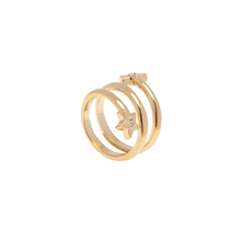 Load image into Gallery viewer, LA MAISON BAGATELLE STAR SPIRAL RING GOLD