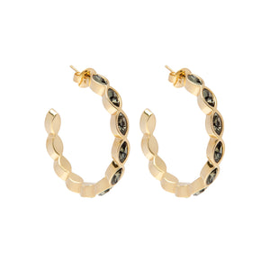 LaMB NAVETTE HOOPS GOLD BLACK