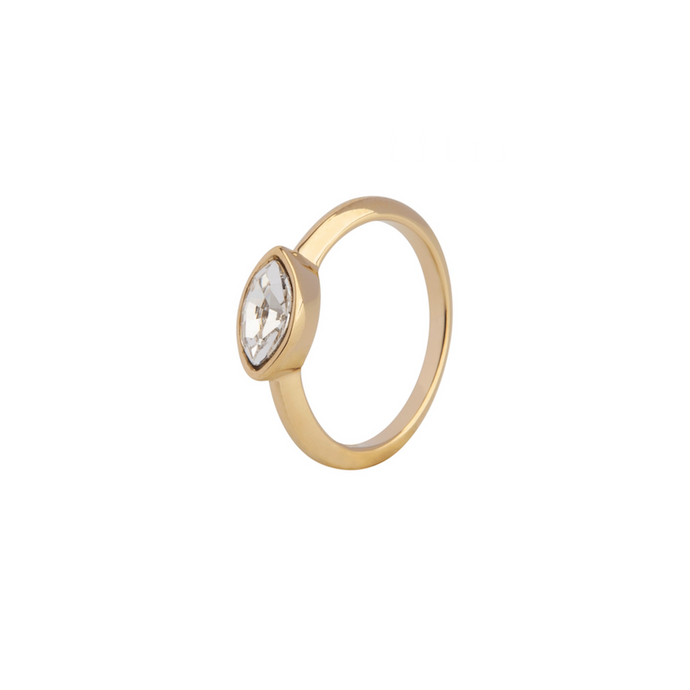 LA MAISON BAGATELLE NAVETTE RING GOLD