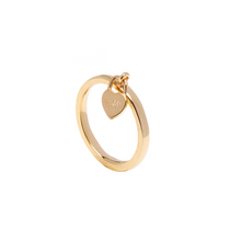 Load image into Gallery viewer, LA MAISON BAGATELLE PADLOCK RING GOLD