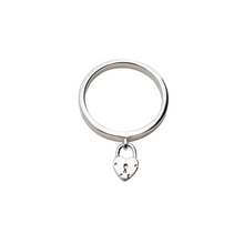 Load image into Gallery viewer, LA MAISON BAGATELLE PADLOCK RING SILVER