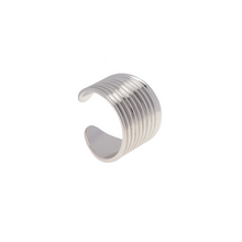 Load image into Gallery viewer, LA MAISON BAGATELLE PLEATED RING SILVER