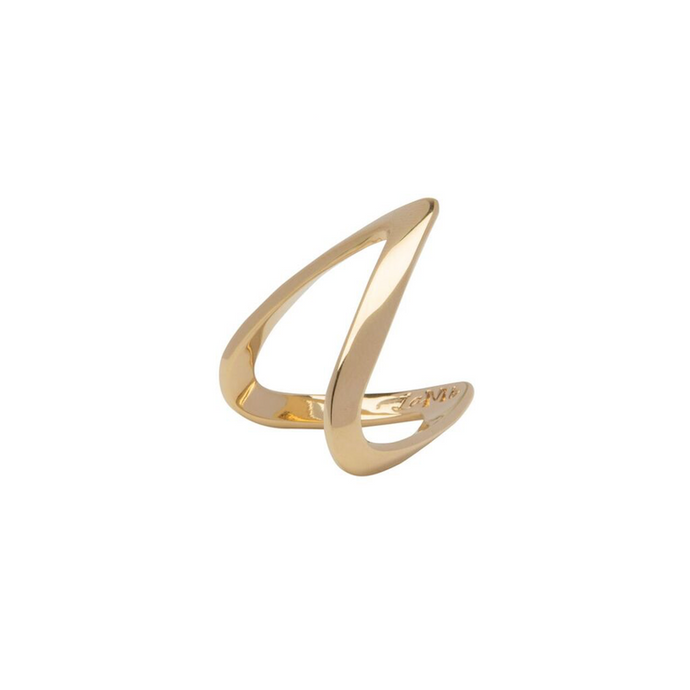 LA MAISON BAGATELLE WAVE RING GOLD