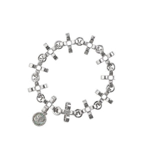 PANTOLIN CROSS CHAIN BRACELET SILVER