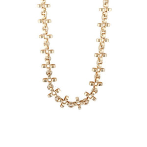 PANTOLIN CROSS CHAIN NECKLACE GOLD SHORT